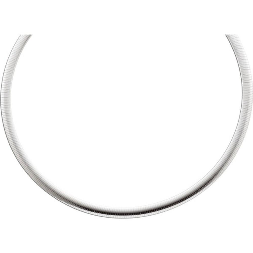 Damenkette Silberkette Collier Halsreif Omegakette Omegahalsreif  Sterling Silber 925_01
