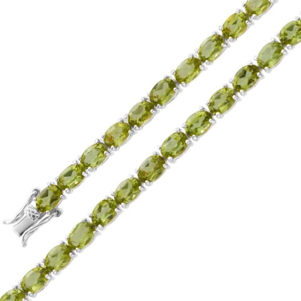 Grünes Edelsteinarmband Silber 925 grüner Peridot_01
