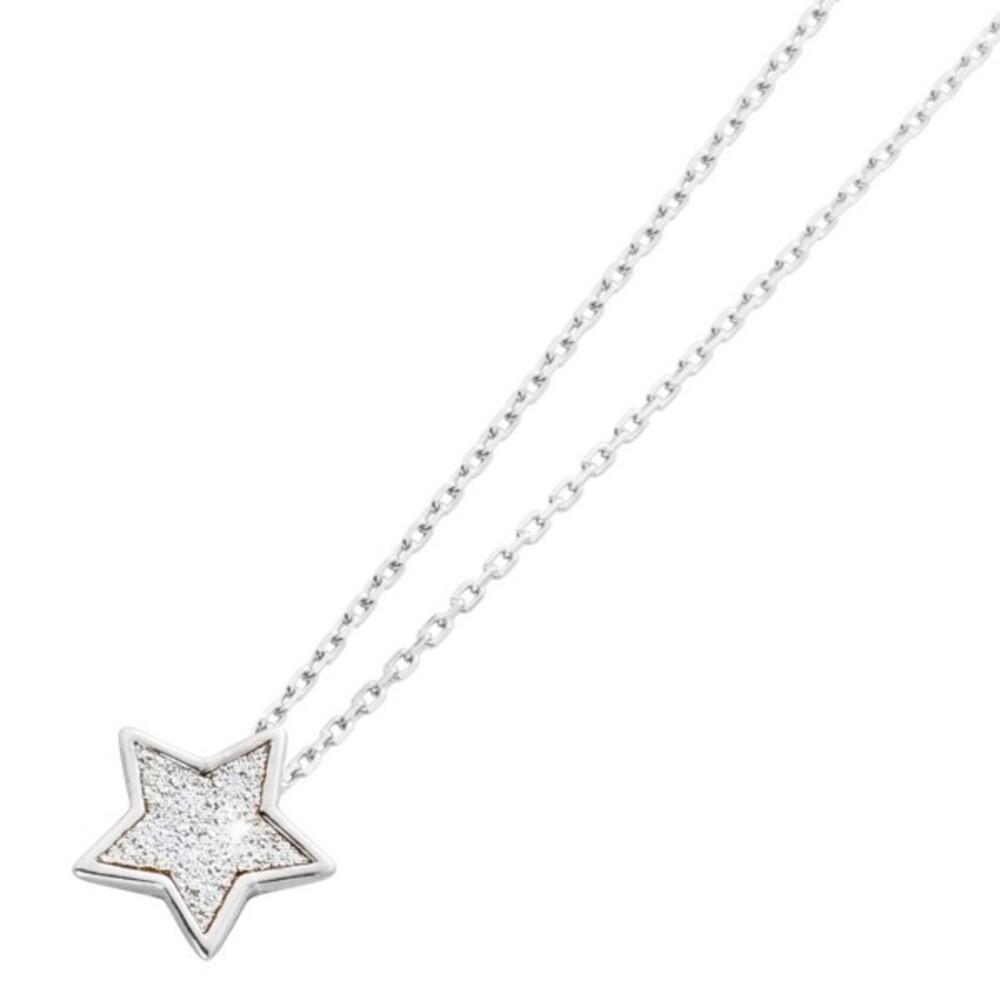 Stern Anhänger_01kette Halskette Kinderkette Sternkette Silber 925 Glitzeranhänger