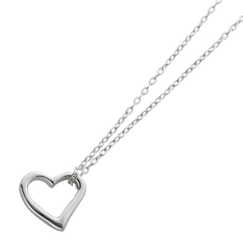 Herz Ankerkette Herzanhänger Sterling Silber 925 1