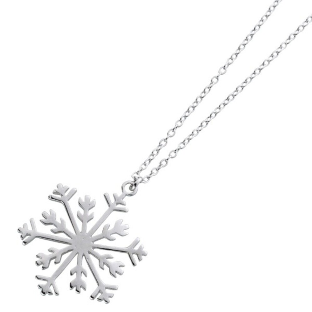 Kette Anhänger Schneeflocke Silber 925 Ankerkette Halskette_03