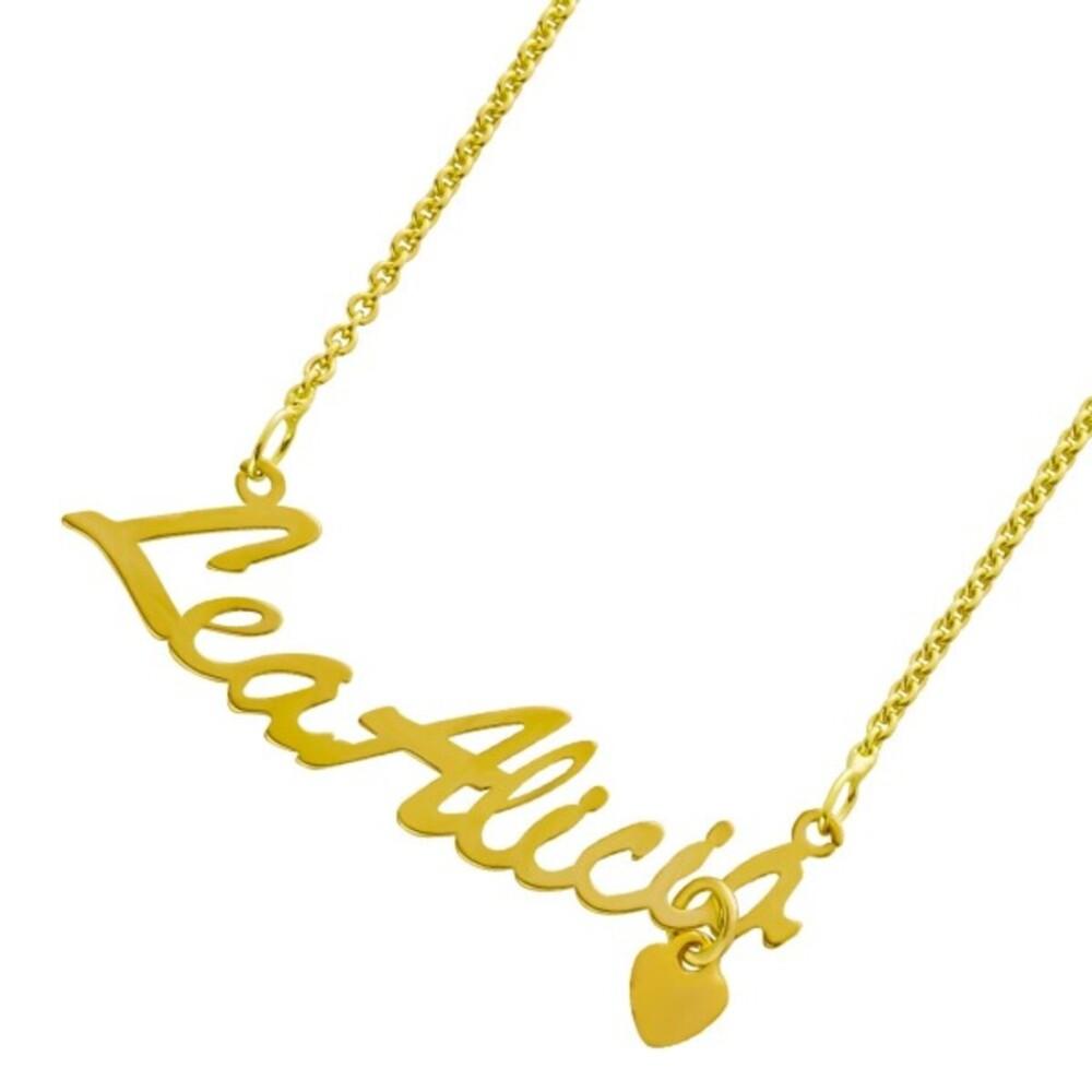 Namenskette Kette Name Silberkette Namensschmuck Silber 925 gold 38+5cm
