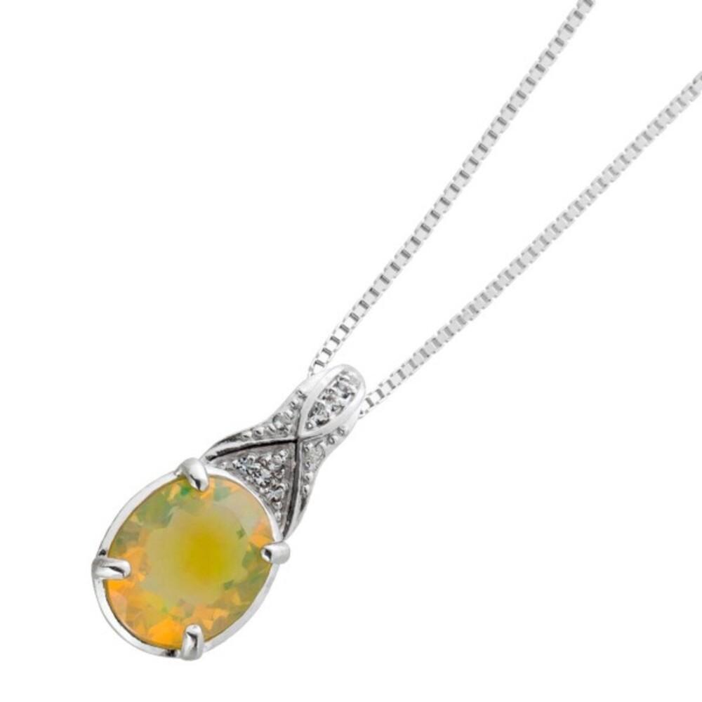 Venezianer Kette äthiopischen Opal Silber 925 Topasen