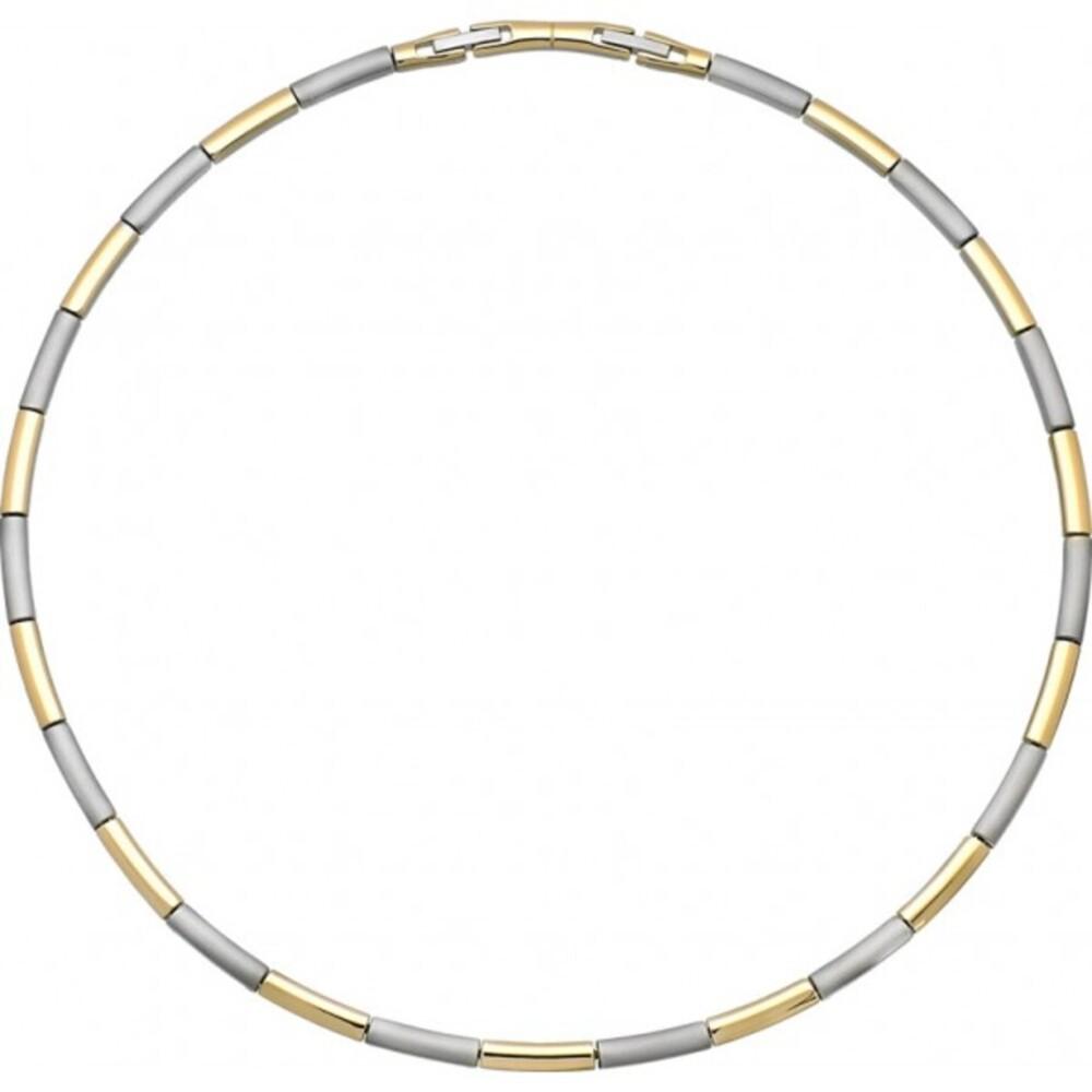 Halskette Titania 27360 Titan teils IP vergoldet poliert satiniert 45cm