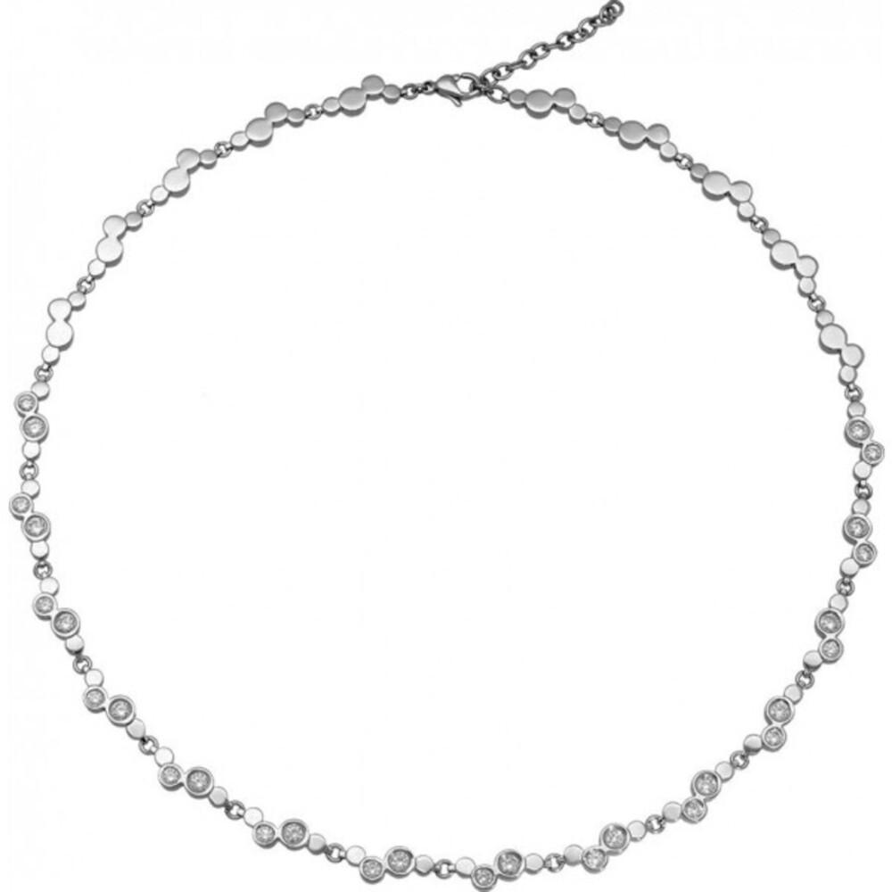 Zirkonia Damen Halskette Titania 28628 Titan poliert 55cm