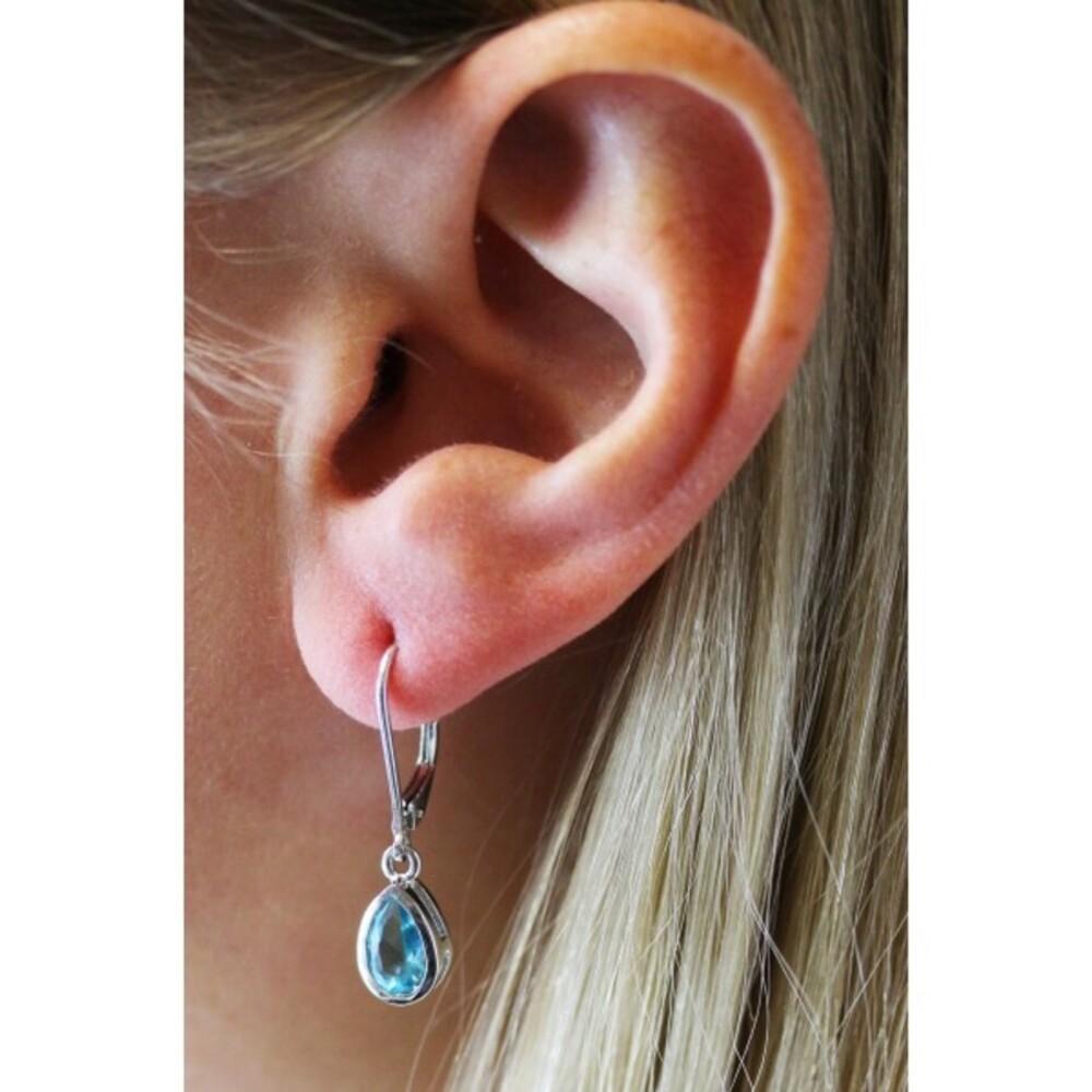 Blaue Silberohrhänger - Ohrringe hellblau Sterling Silber 925_01
