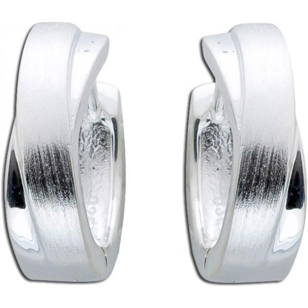 Geschwungene Silbercreolen Klappcreolen Silberohrringe Sterling Silber 925 poliert Damenschmuck_01