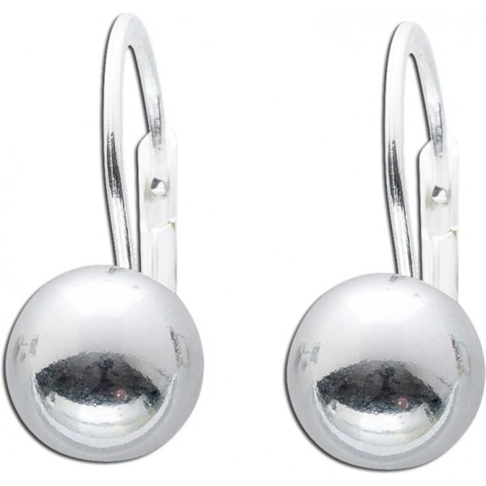 Runde klassische Kugel Ohrhänger Sterling Silber 925 Ohrschmuck 1