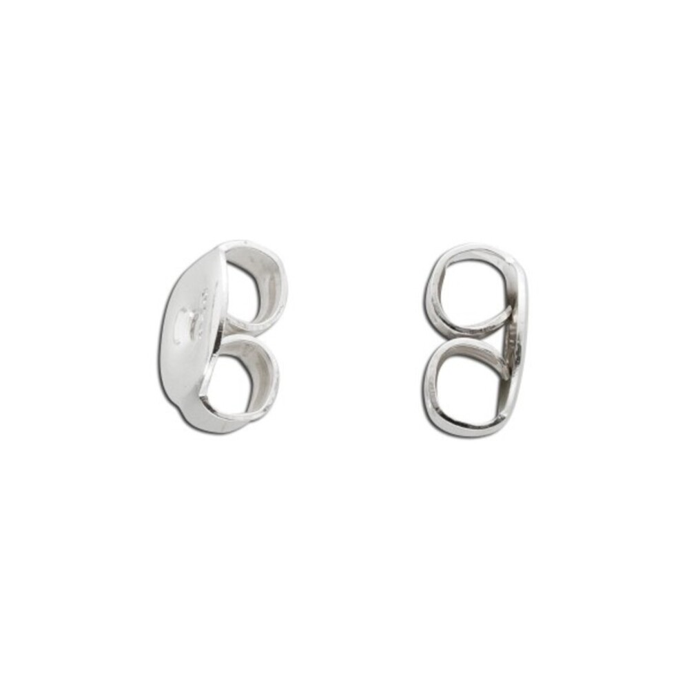 Ohrmutterpaar 5,5 mm mit Zacken aus echtem Sterlingsilber 925