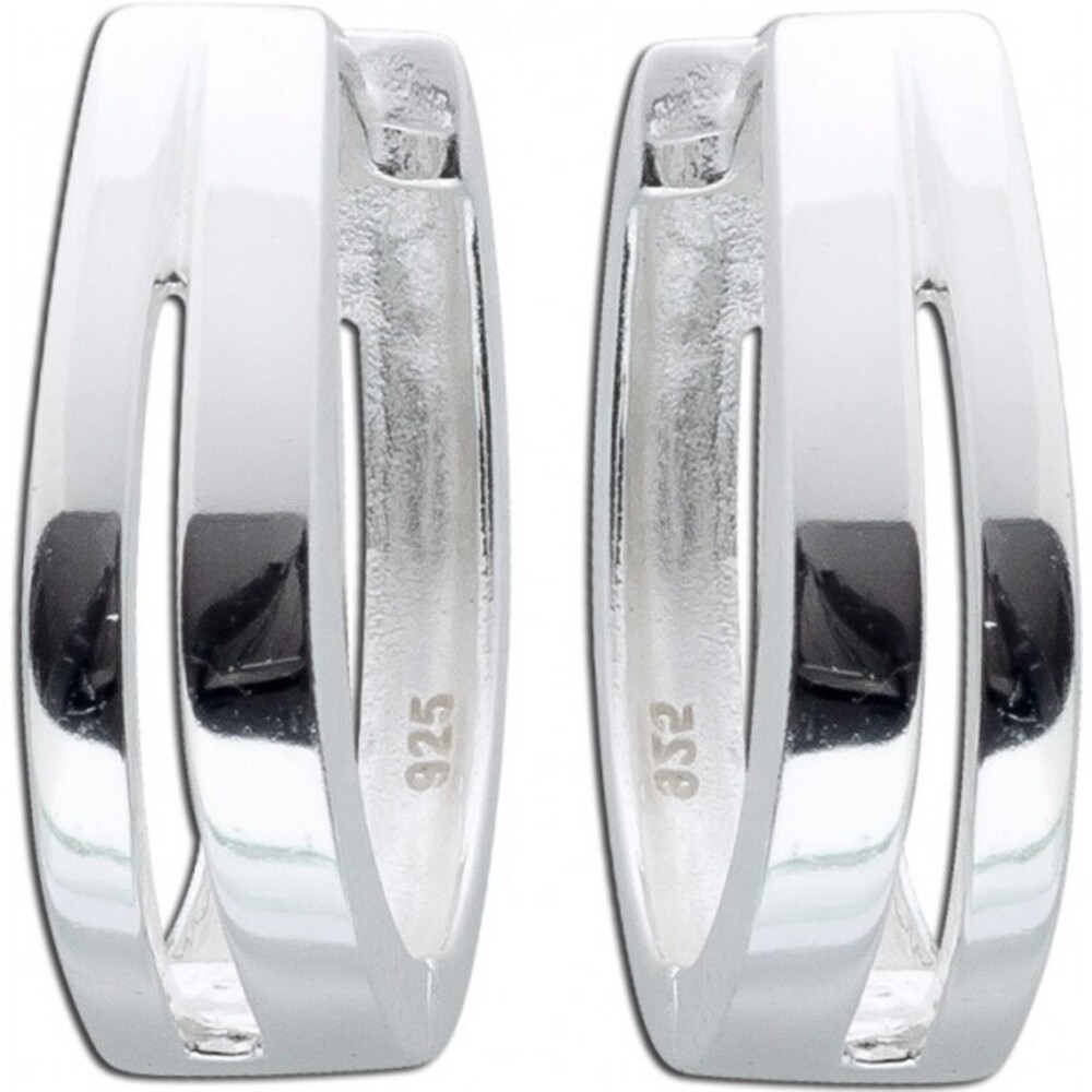 Creolen Klappcreolen Silbercreole Silberohrringe Sterling Silber 925 Damenohrringe modern _01