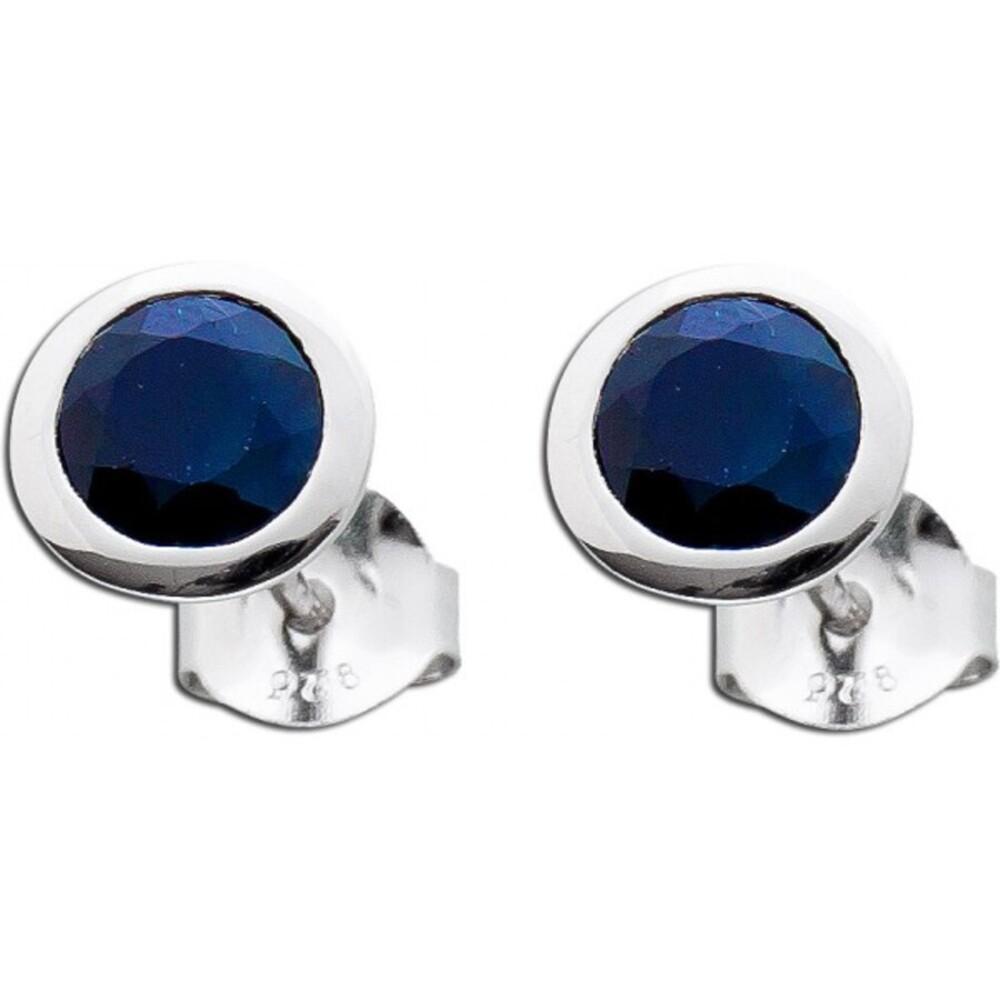 Ohrringe Safir Sterling Silber 925 nachtblauen Safire_01