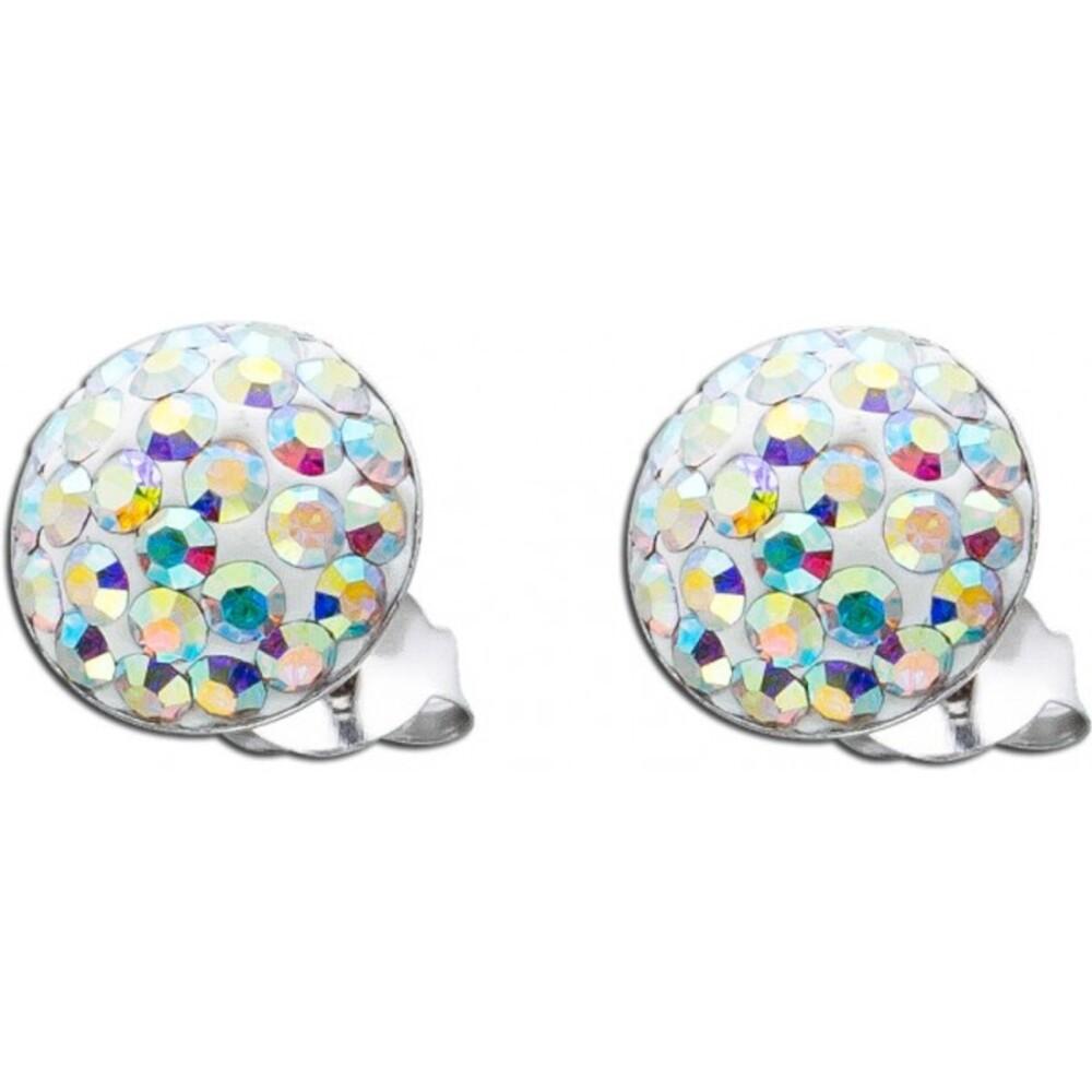 Kristall Ohrringe Aurore Boreale Kristallohrstecker Silber 925 funkelnd_01