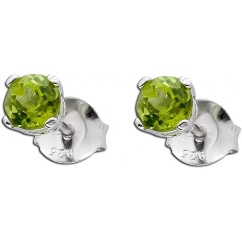 Ohrringe - grüne Peridot Ohrstecker Sterling Silber 925_01