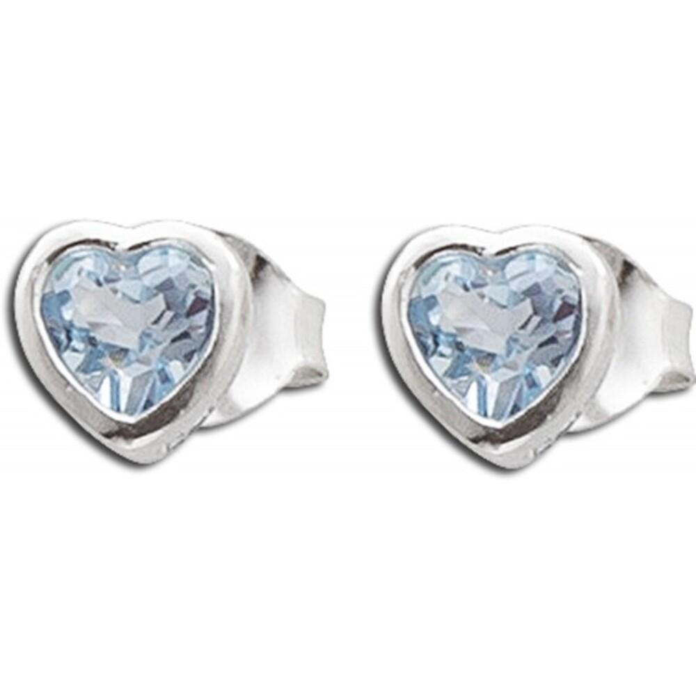 Herzohrstecker Blautopas Sterling Silber 925 blaue Edelsteine_01