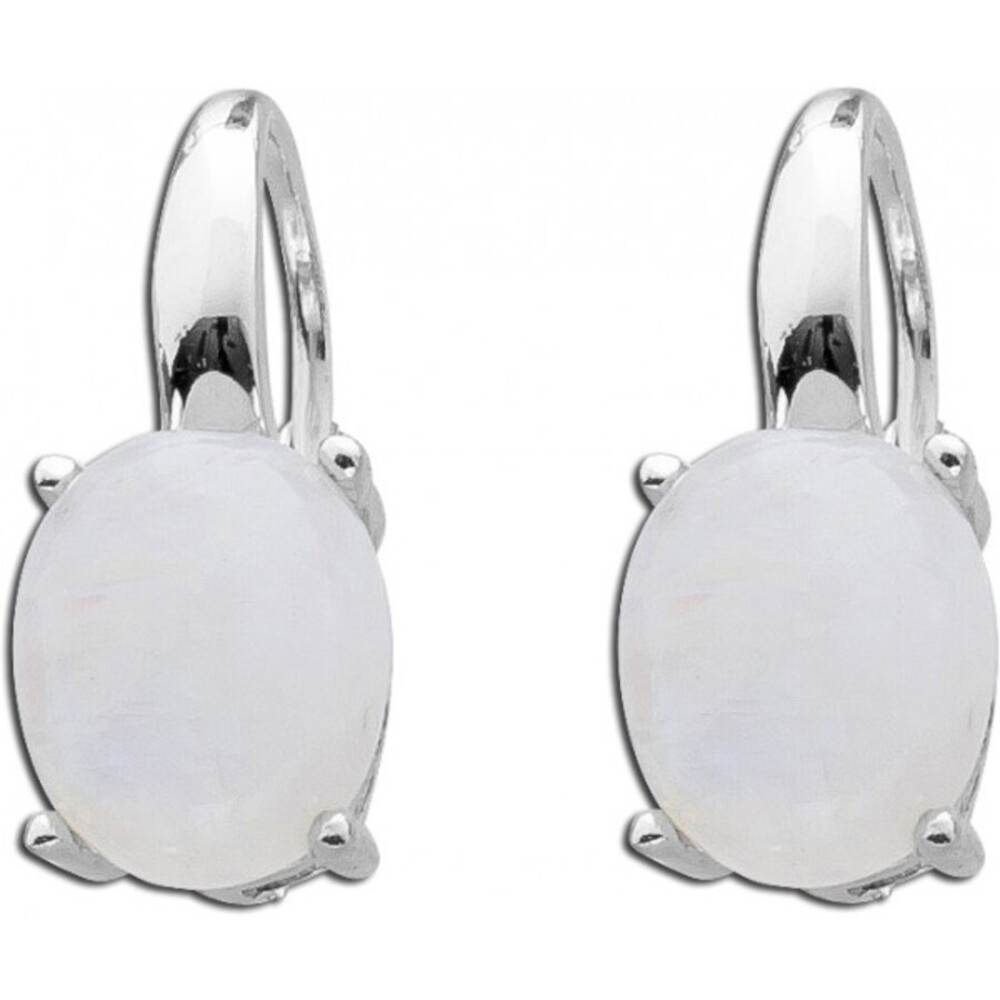 Regenbogenfarbene Mondstein Ohrhänger Edelstein Ohrringe Sterling Silber 925 T-Y 1