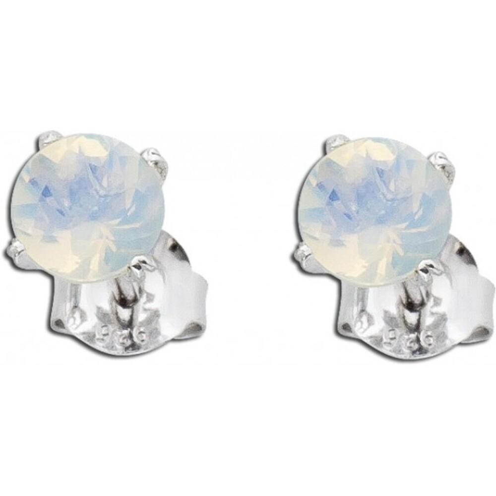 Silber Ohrstecker äthiopischer Opal Edelstein Ohrringe Silber 925_01
