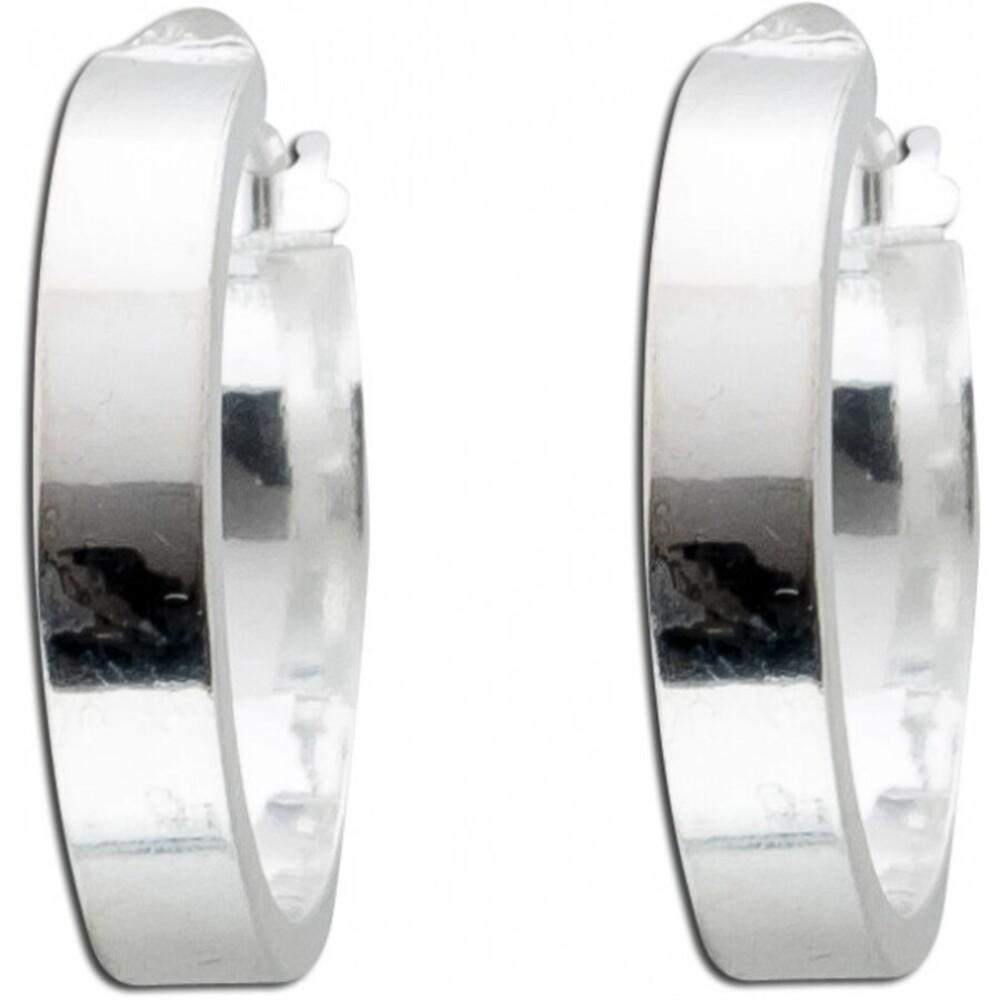UNO A ERRE Ohrringe Creolen  Klappcreolen Silber Silberohrringe Silber 925 Ø18mm poliert_01