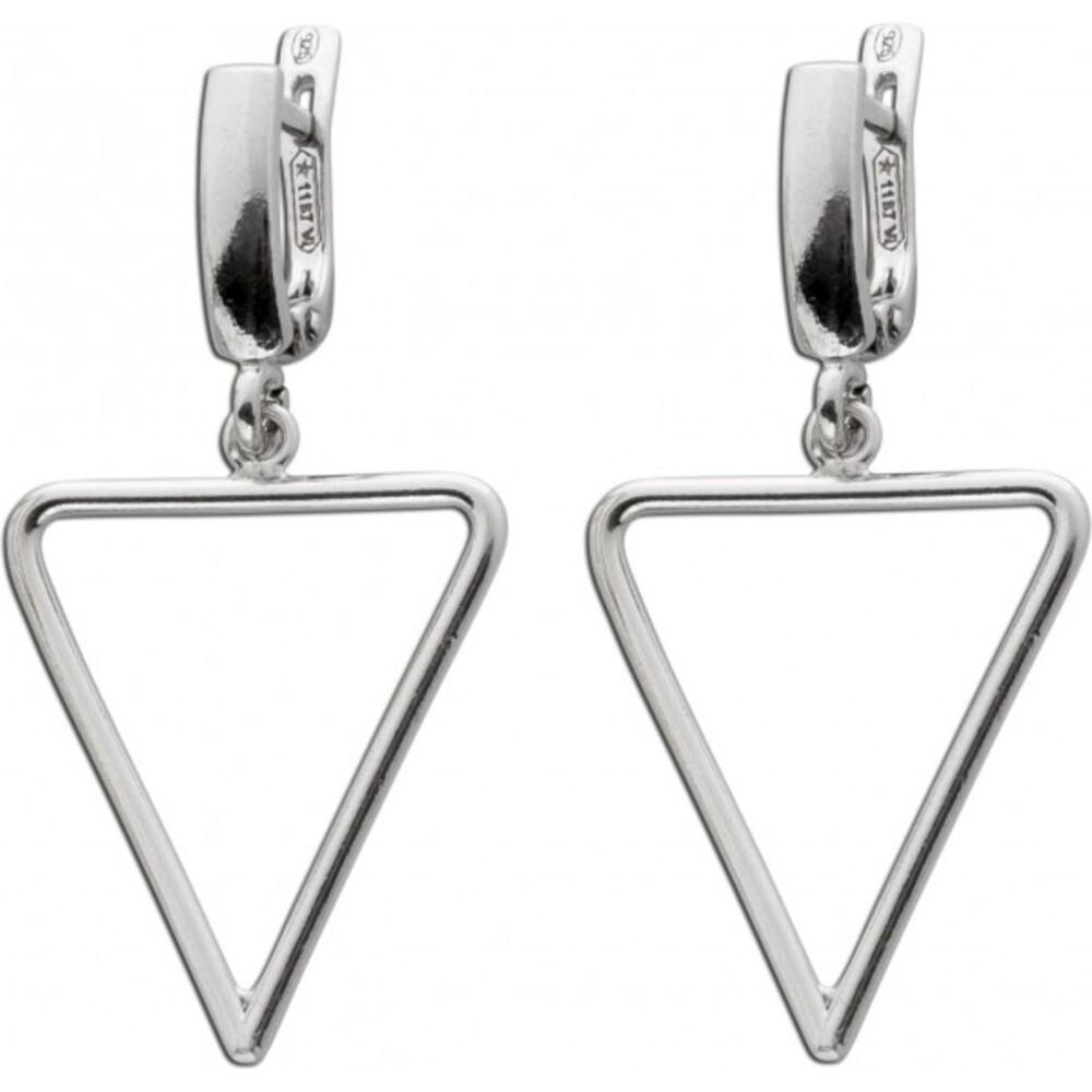 Creolen Ohrhänger Silber 925 Schaniercreole Dreieck Damenschmuck_1