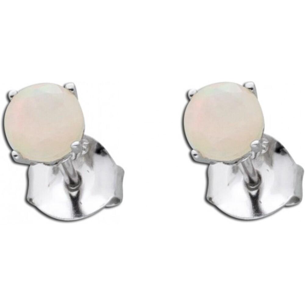Opal Ohrringe Opal Ohrstecker Silber 925 weiß_01