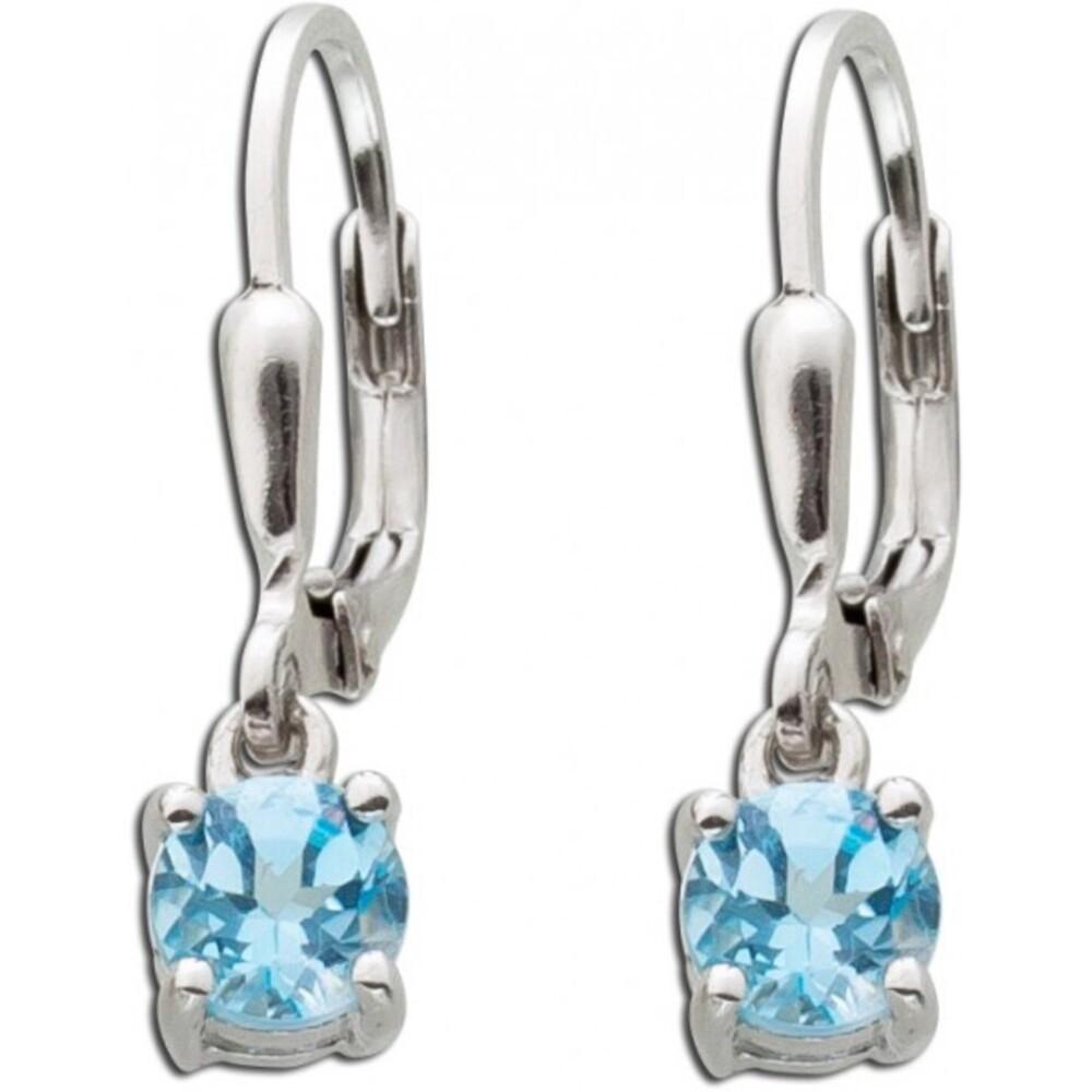 Ohrhänger blau Ohrring Silber 925 Blautopas Edelstein_01