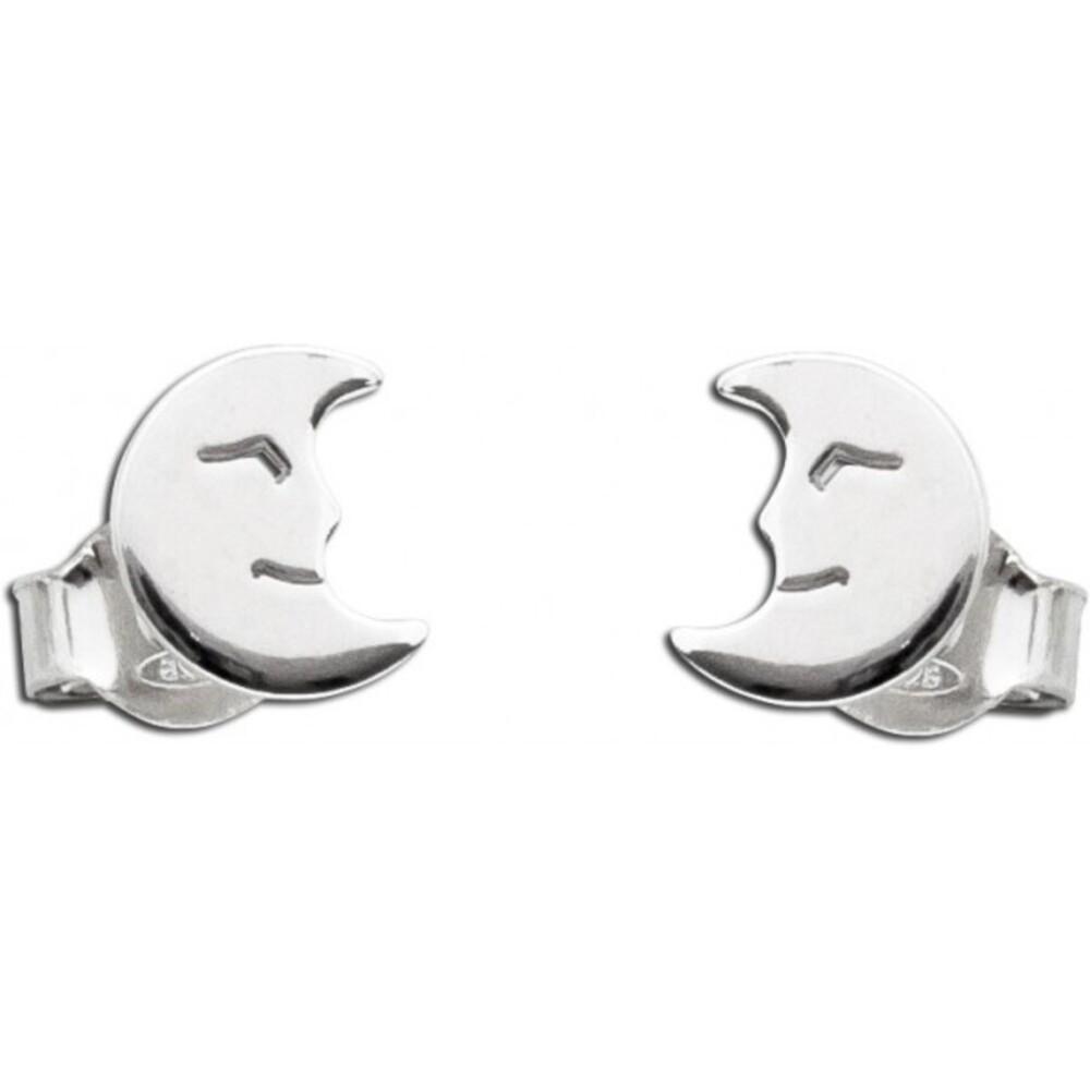 Halbmond Ohrstecker Ohrringe Silber 925 Kinderohrschmuck 1