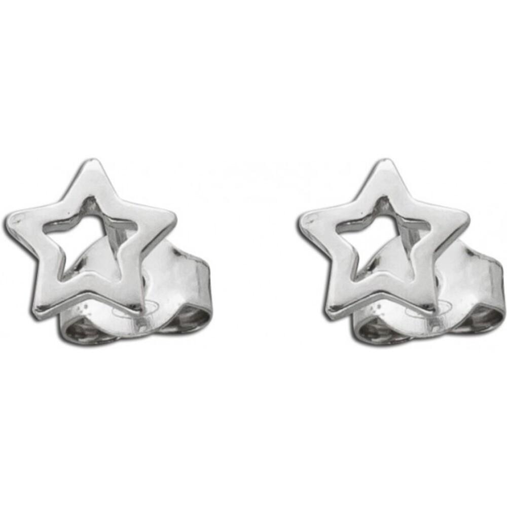 Stern Ohrstecker Ohrringe Sterling Silber 925 1
