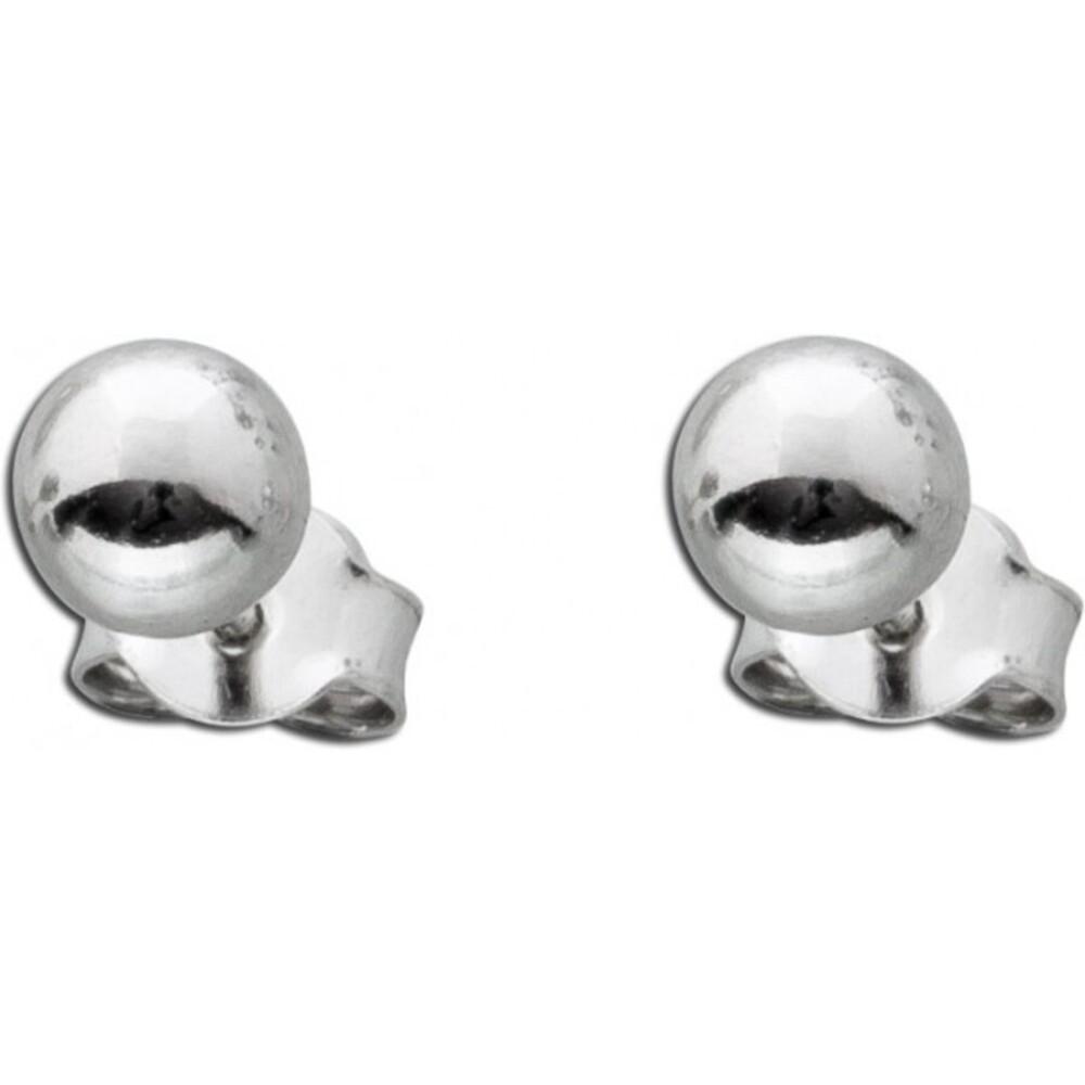 Kugel Ohrstecker Kungelohrstecker Silberohrringe Silberohrstecker Sterling Silber 925 6mm_01