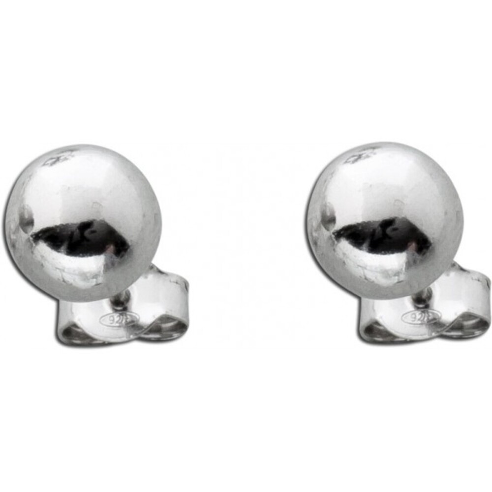 Kugel-Ohrstecker aus poliertem Sterlingsilber Ø 8mm