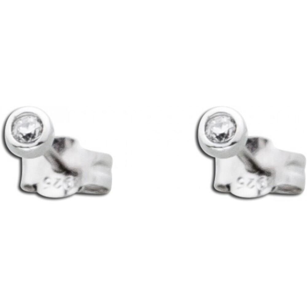 Ohrstecker Silber 925 Ohrringe Diamant Optik weiß Zirkonia_01