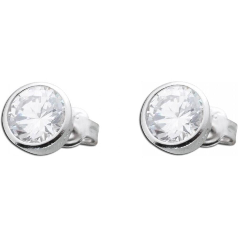 Ohrringe Silber 925 Ohrstecker Brillant Optik weiß Zirkonia_01