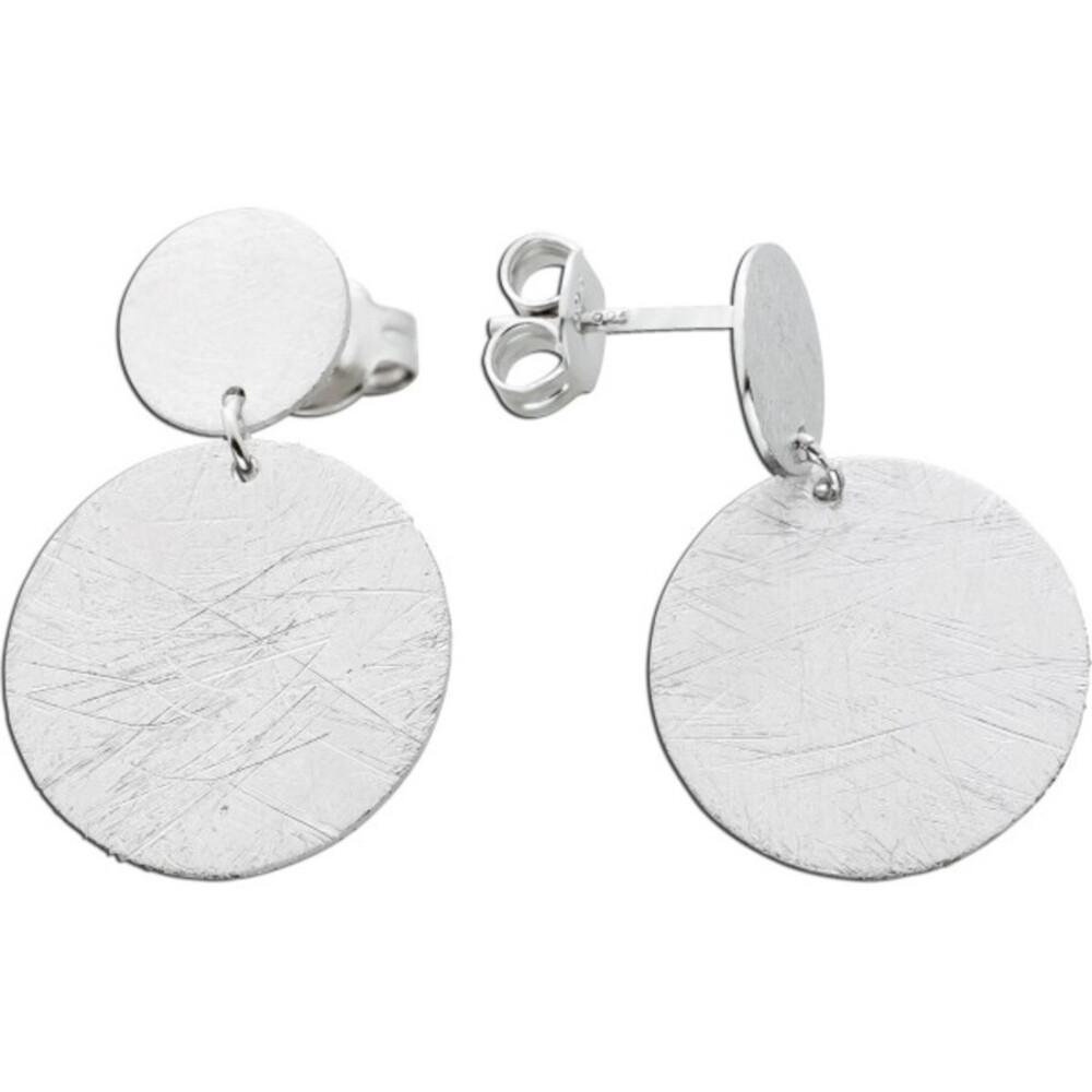 Beweglich Silberplatten Ohrstecker Ohrringe Silber 925 gebürstet Damen