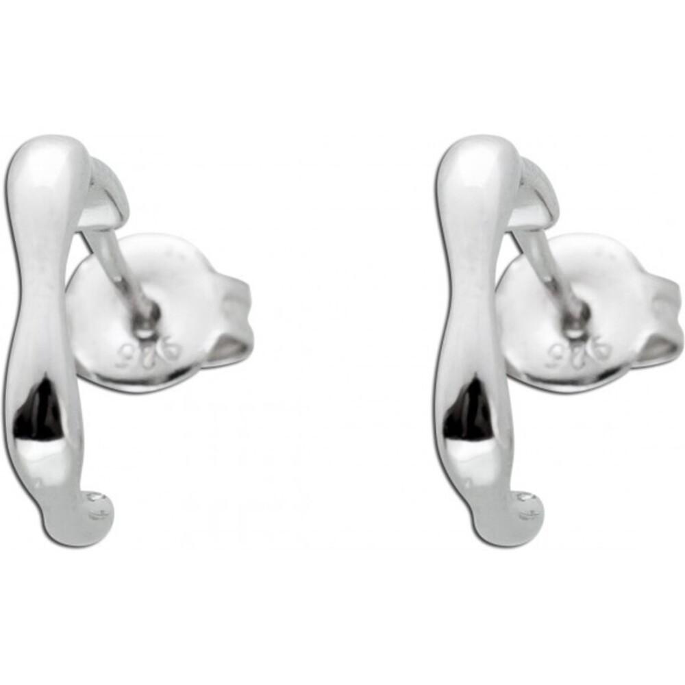 Verspielte Ohrstecker Creolen Optik Silber 925 Ohrringe Ohrschmuck 1