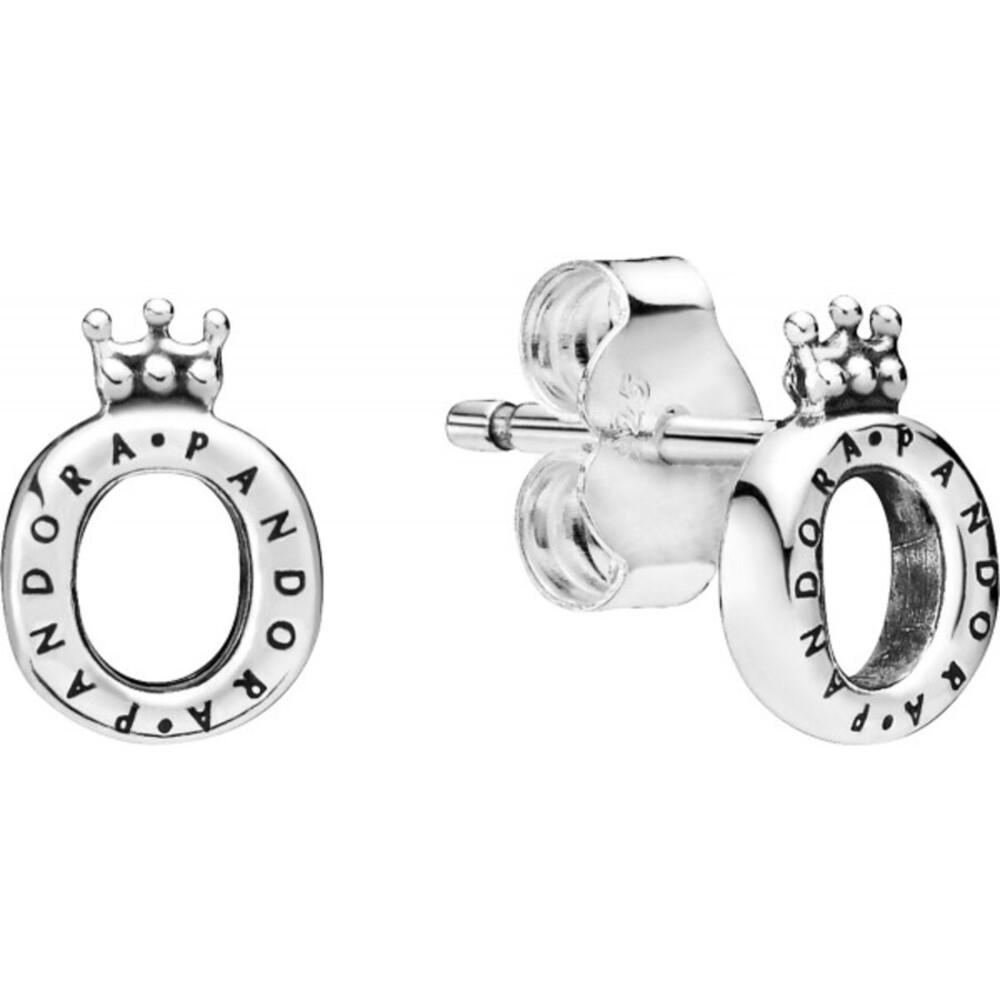 PANDORA Ohrstecker 298295 Polished Crown O Sterling Silber