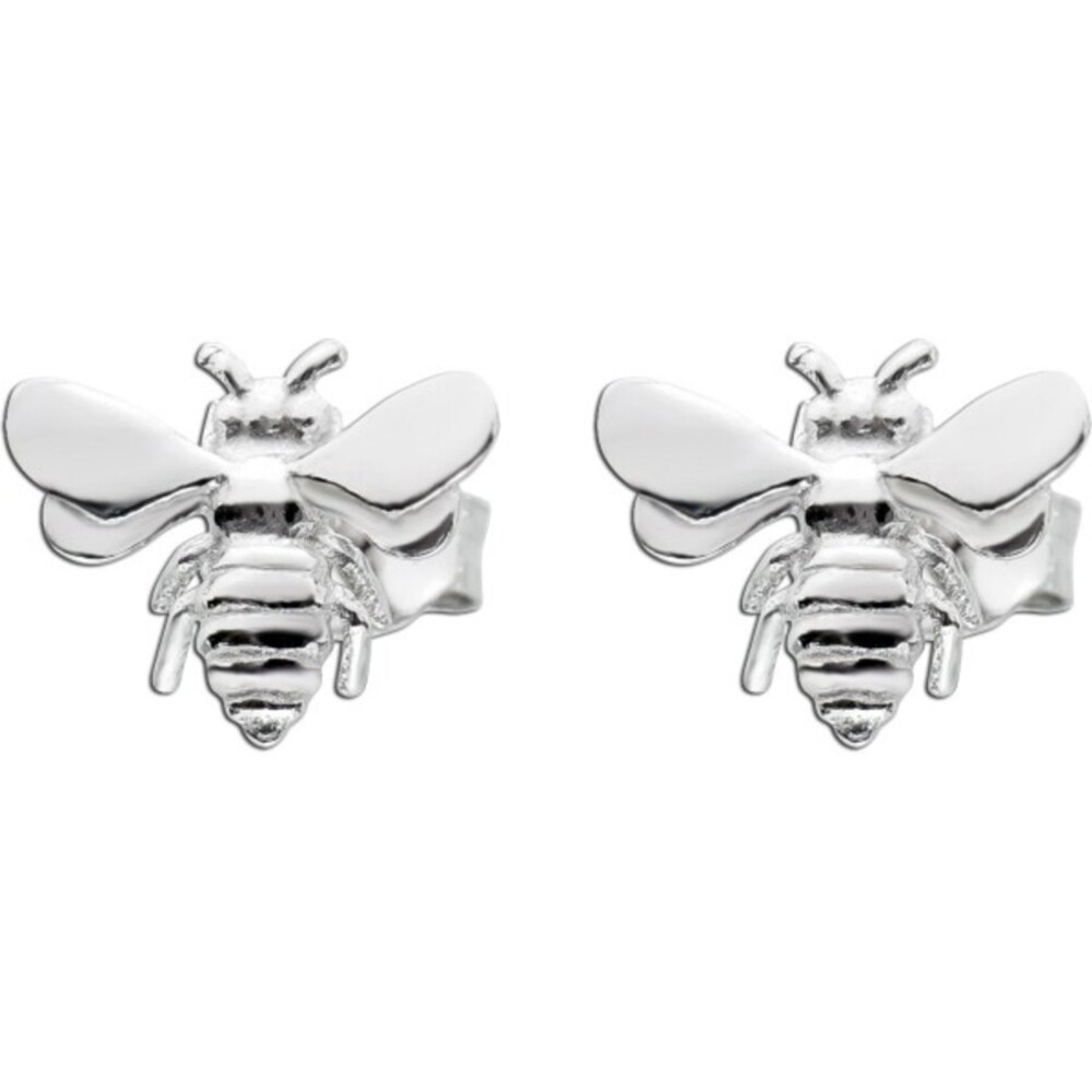Bienen Ohrringe Ohrstecker Silber 925 poliert