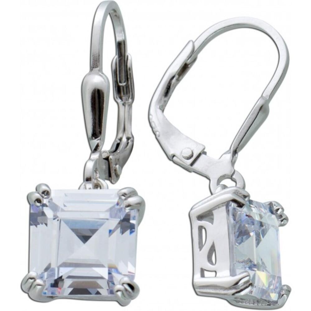 Ohrringe weißen Zirkonia Steinen Silber 925 Ohrschmuck 1