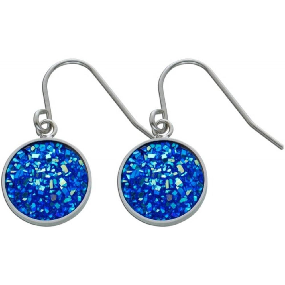 Blaue Kristall Ohrhänger Edelstahl Ohrschmuck  1
