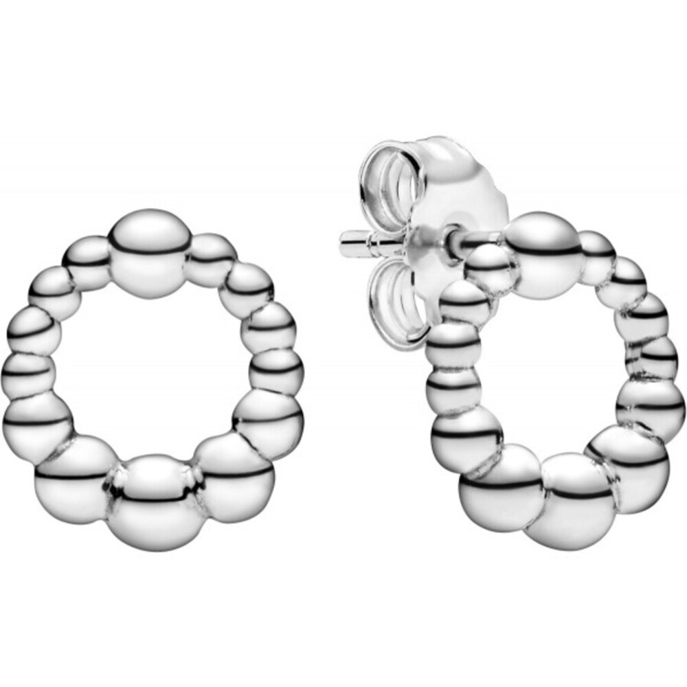 Pandora Ohrstecker 298683C00 Beaded Circle Kugeln Ohrringe Silber 925