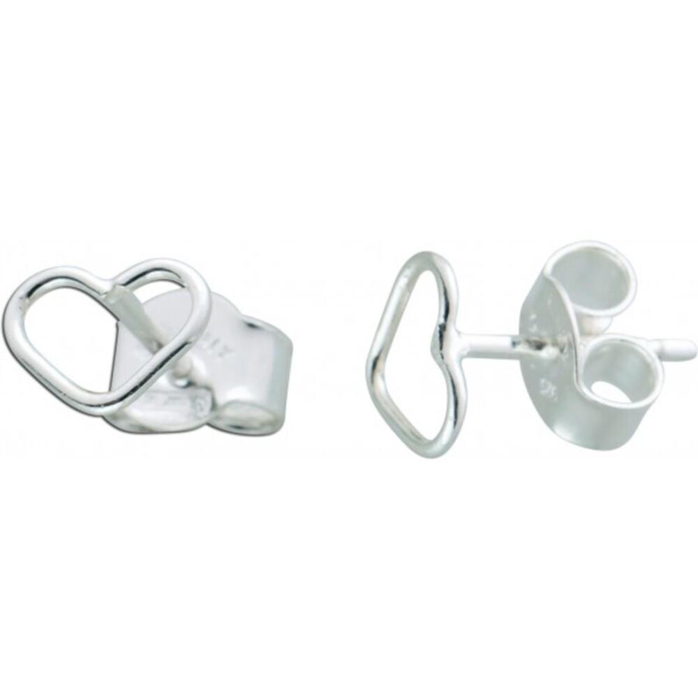 Herz Ohrstecker Silber 925 Damen Ohrringe