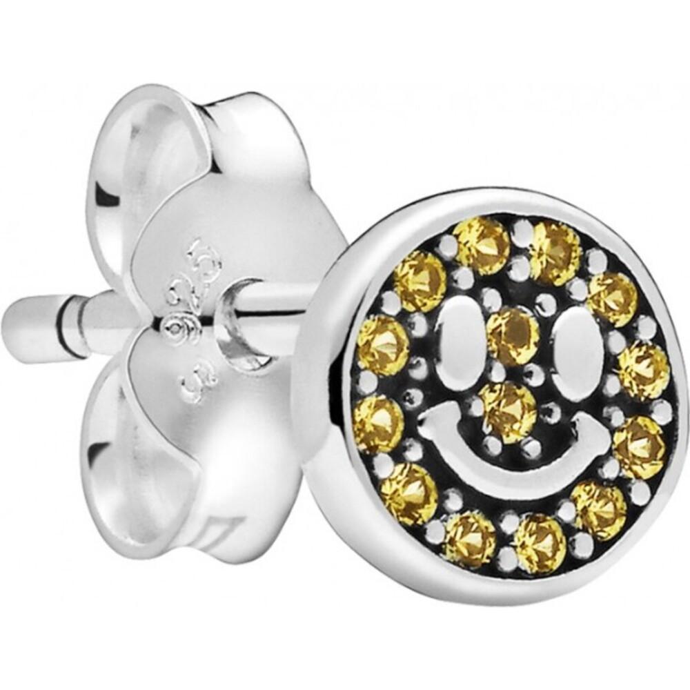 Pandora Me Einzelner Ohrstecker 298542C01 My Smile Silber 925 Gelb Kristall