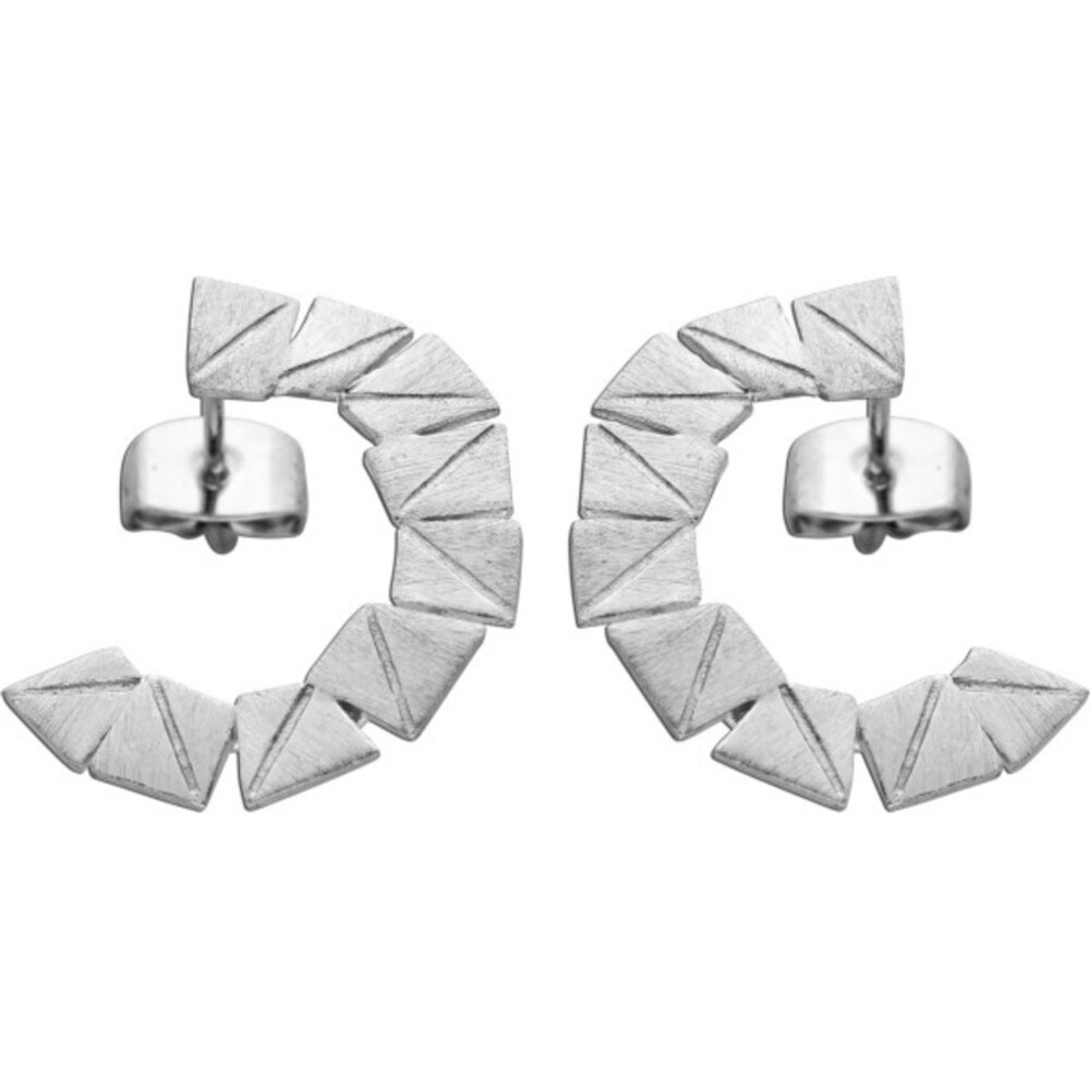 Vivien Lee Designer Ohrstecker Ohrringe Edelstahl c-förmig mattiert VL Kollektion