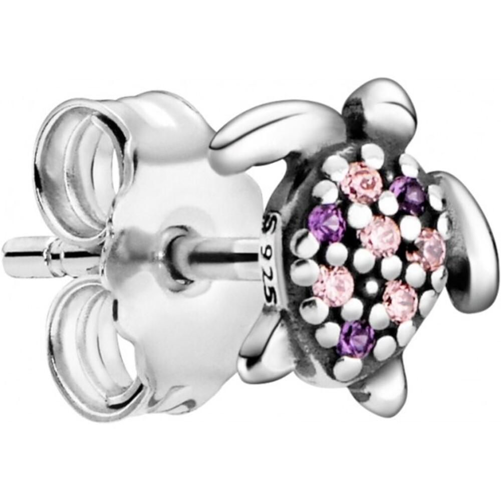 Pandora Me Ohrstecker Einzeln 299009C01 My Sea Turtle Silber 925 Pinke Zirkonia Lilane Kristalle