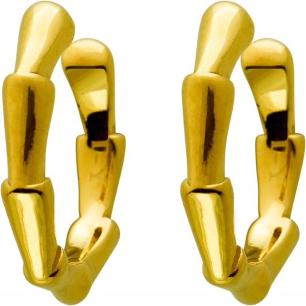 Ear Cuffs OhrrandcreolenOhrklemmen, Edelstahl vergoldet, 14x2,6mm