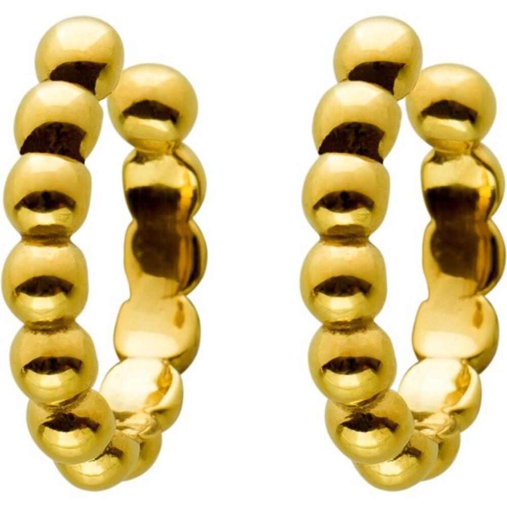 Ear Cuffs Ohrrand CreolenOhrklemmen Edelstahl vergoldet, T-Y, 13x2,6mm
