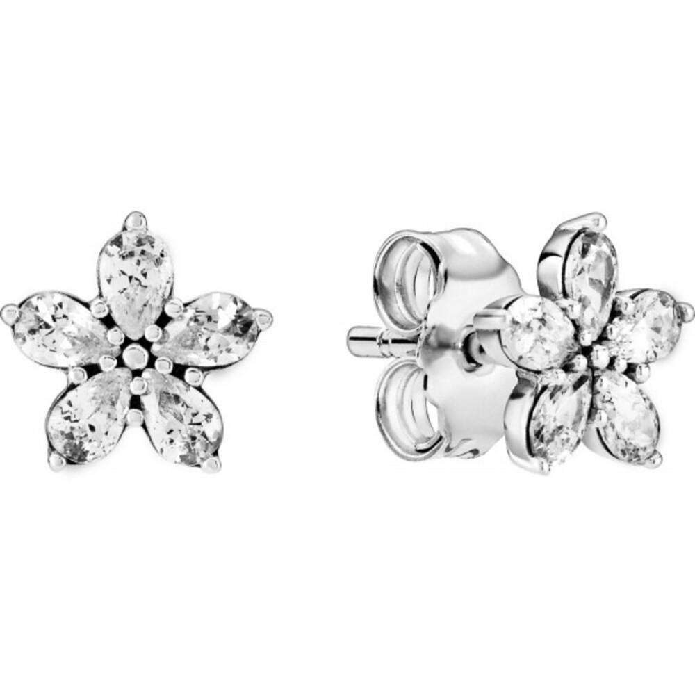 Pandora Ohrstecker 299239C01 Sparkling Snowflakes Silber 925 clear cubic zirconia
