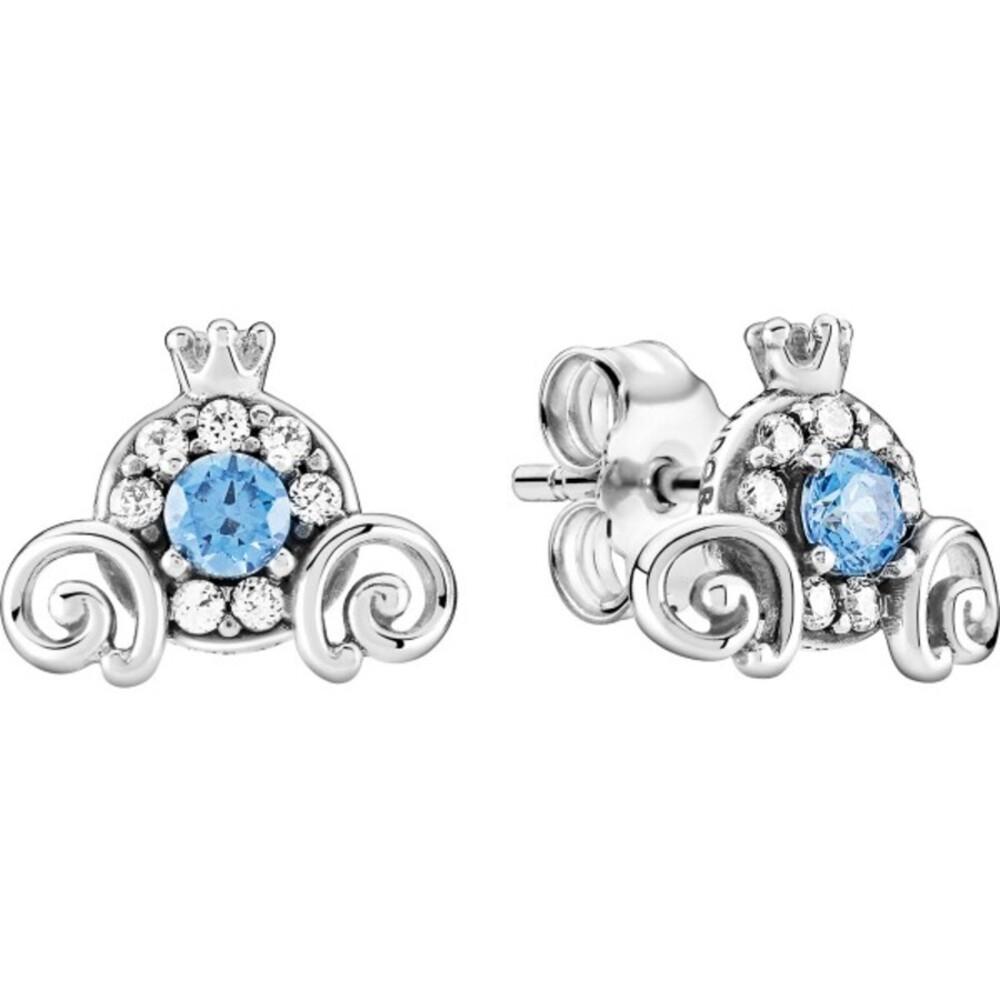 Pandora Disney Ohrstecker 299193C01 Cinderella PumpkinCoach Silber 925 light bluecubic zirconia