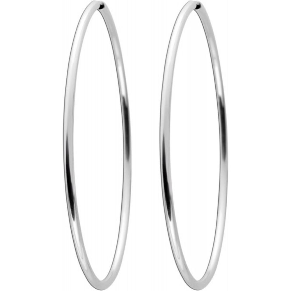 Silber Creolen 925 60mm Durchmesser halbmassiv