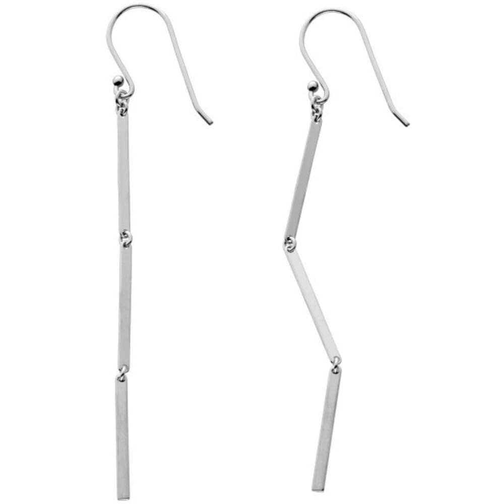 Ohrhänger Silber 925 beweglich mit 3 Silber Plättchen