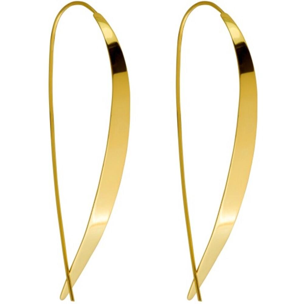 Durchzieher Ohrringe Silber 925 vergoldet poliert
