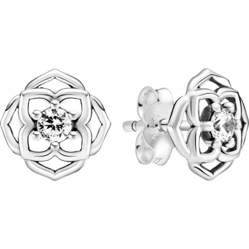 Pandora Timeless Ohrstecker 299371C01 Rose Petals Silber 925 Klare Zirkonia