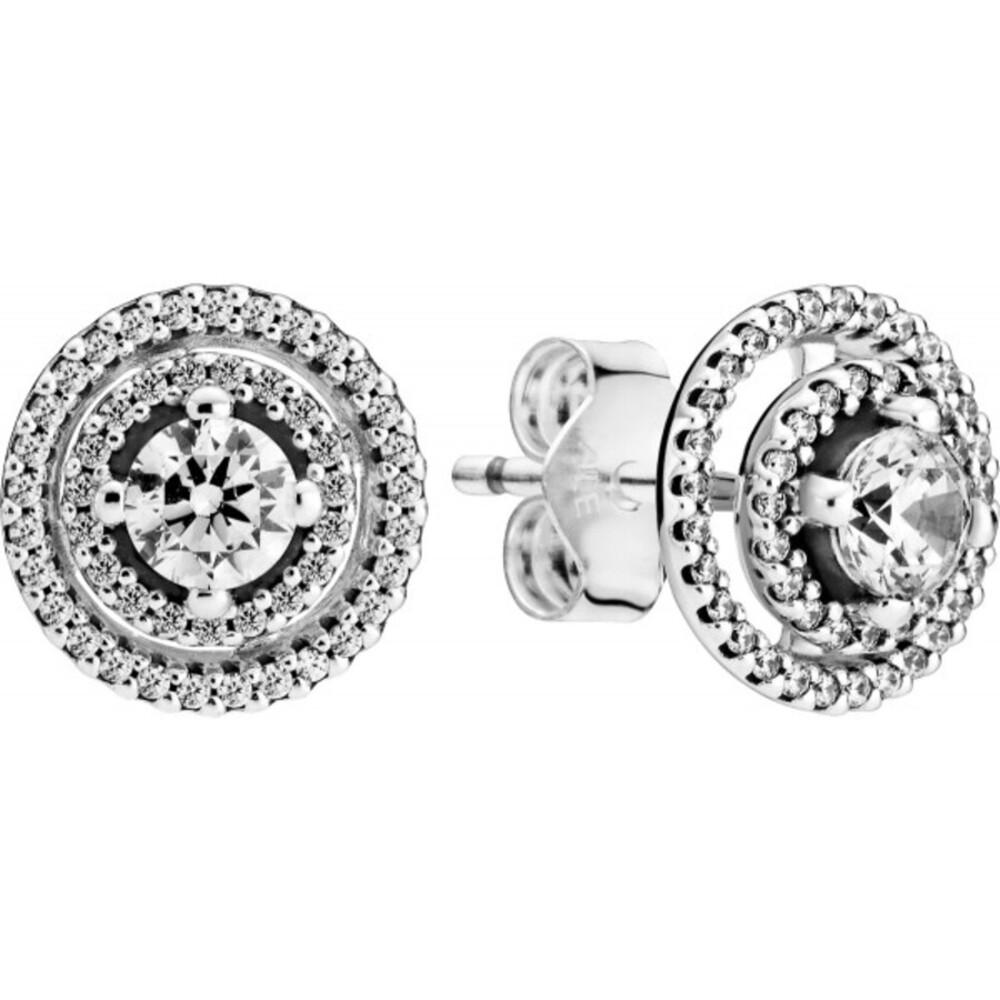 Pandora Timeless Ohrstecker 299411C01 Sparkling Double Halo Silber 925 Klare Zirkonia